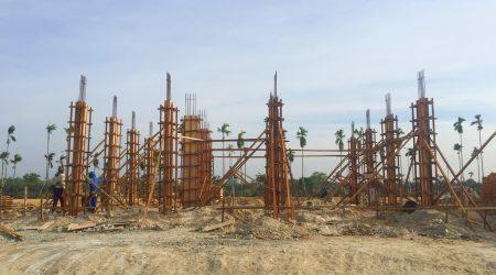 Progress pembangunan rumah contoh type Hopeland di Cluster Raffles Place